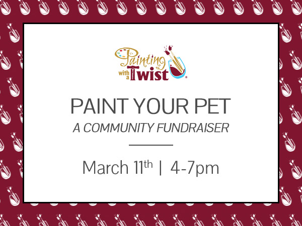 Paint Your Pet, a special edition of Painting with a Purpose benefiting One Love Animal Rescue